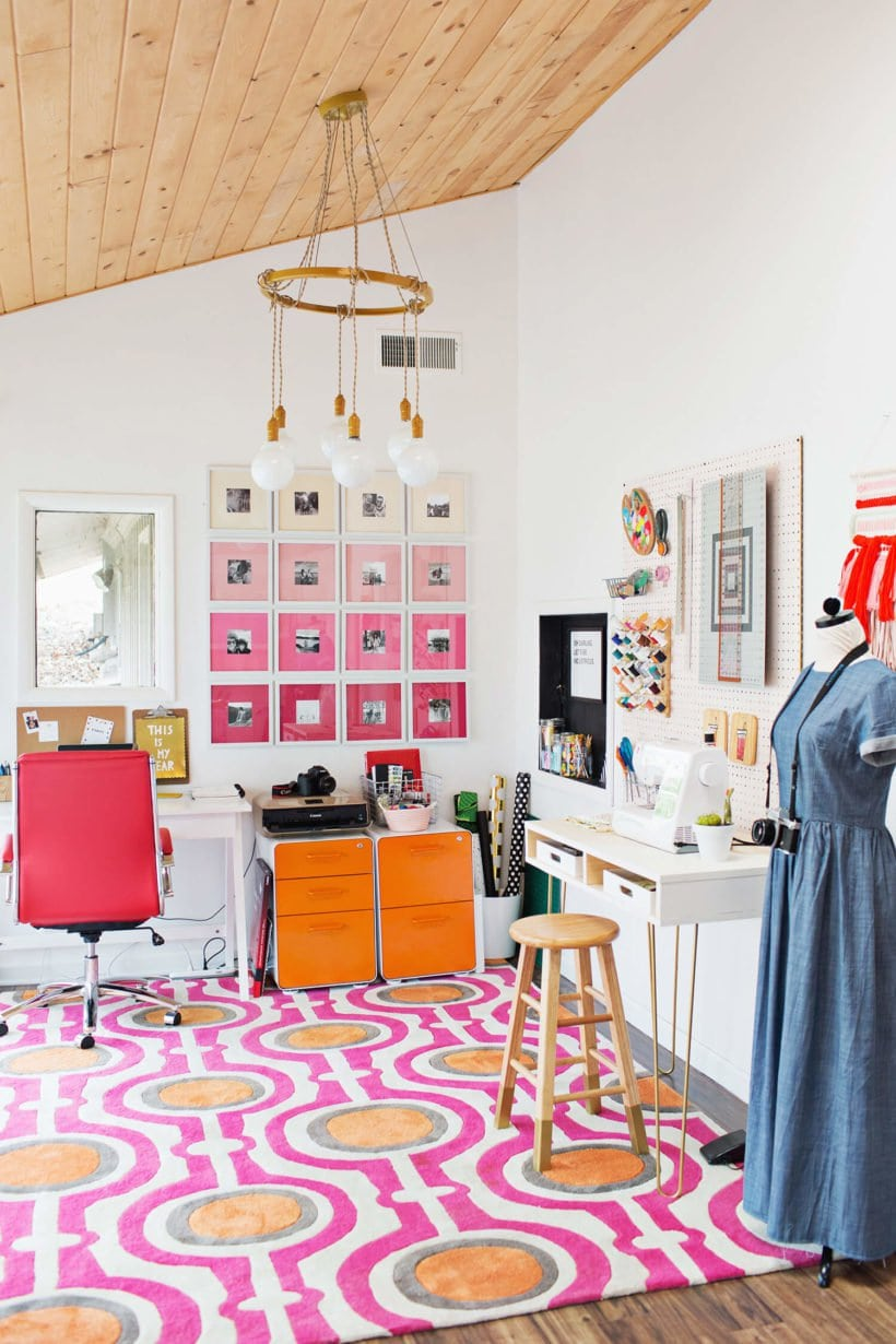 Ombre gallery wall from A Beautiful Mess