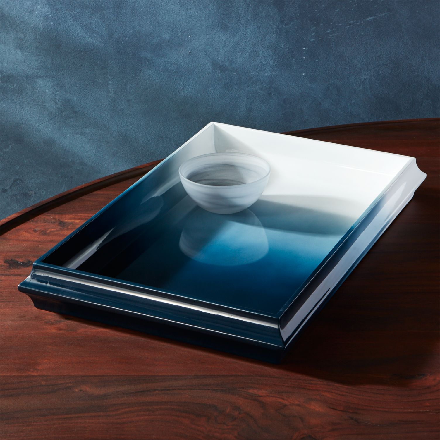 Ombre lacquer tray from CB2
