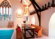 Spacious-dining-room-inside-the-church-converted-into-modern-home-embraces-pastel-pink-beautifully-217x155