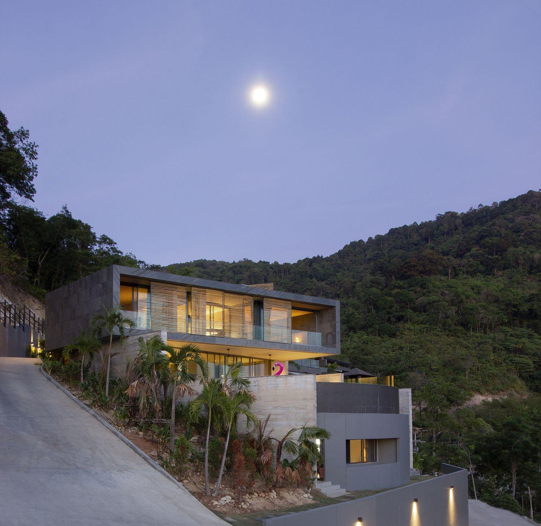 Special demands of the hillside lot create stunning Kalim Beach House