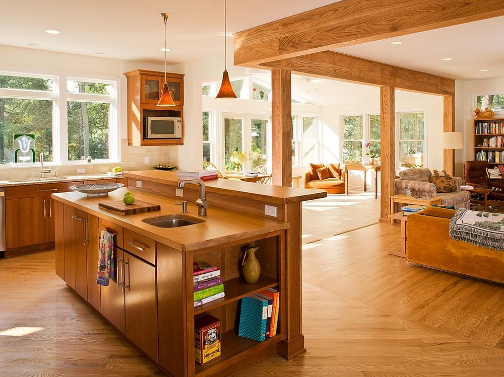 Wood-and-white-open-plan-living-area-with-a-wooden-island-to-match-the-look