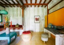 Yellow-accent-wall-for-the-tropical-style-living-room-217x155
