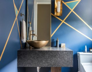 Bold Color Trending in the Powder Room: 20 Fab Ideas, Inspirations