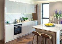 Dark-hardwood-floor-in-chevron-pattern-for-contemporary-kitchen-with-smart-design-70847-217x155