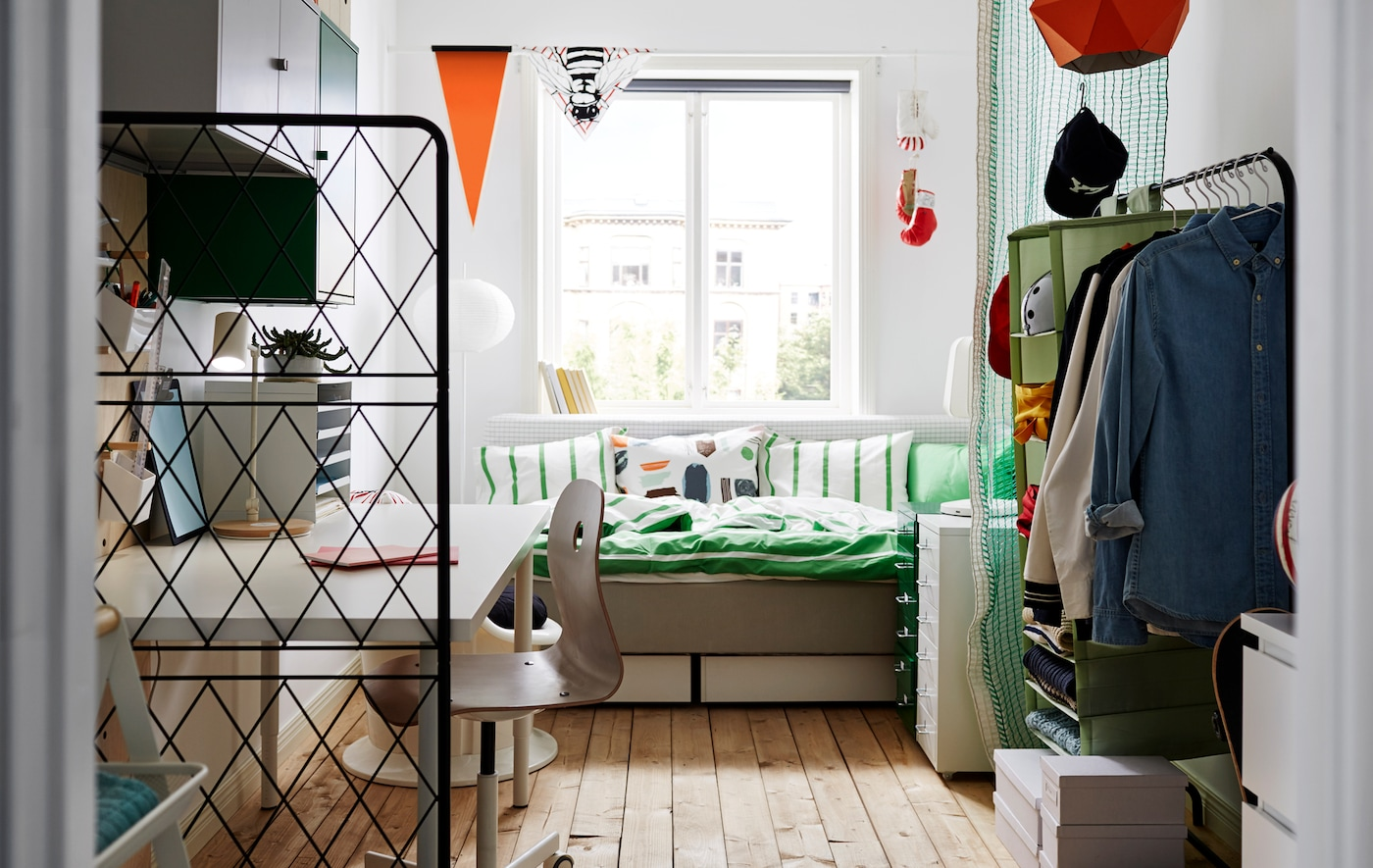 Dorm room by Emma Parkinson for IKEA