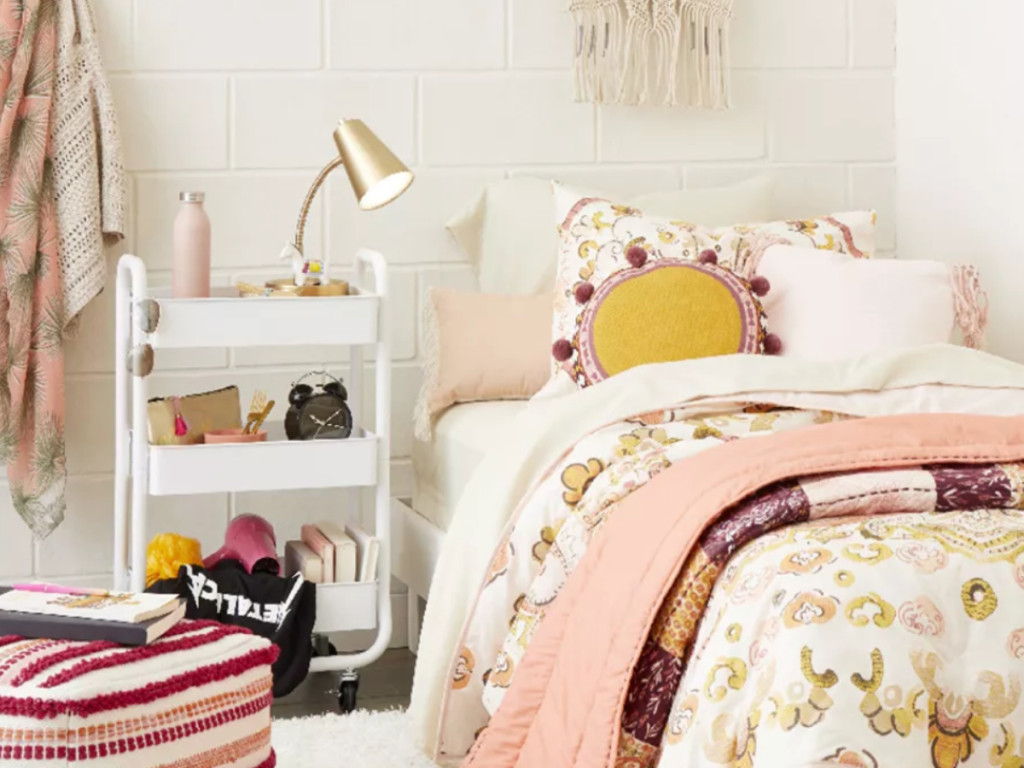 Dorm room decor and bedding from Target