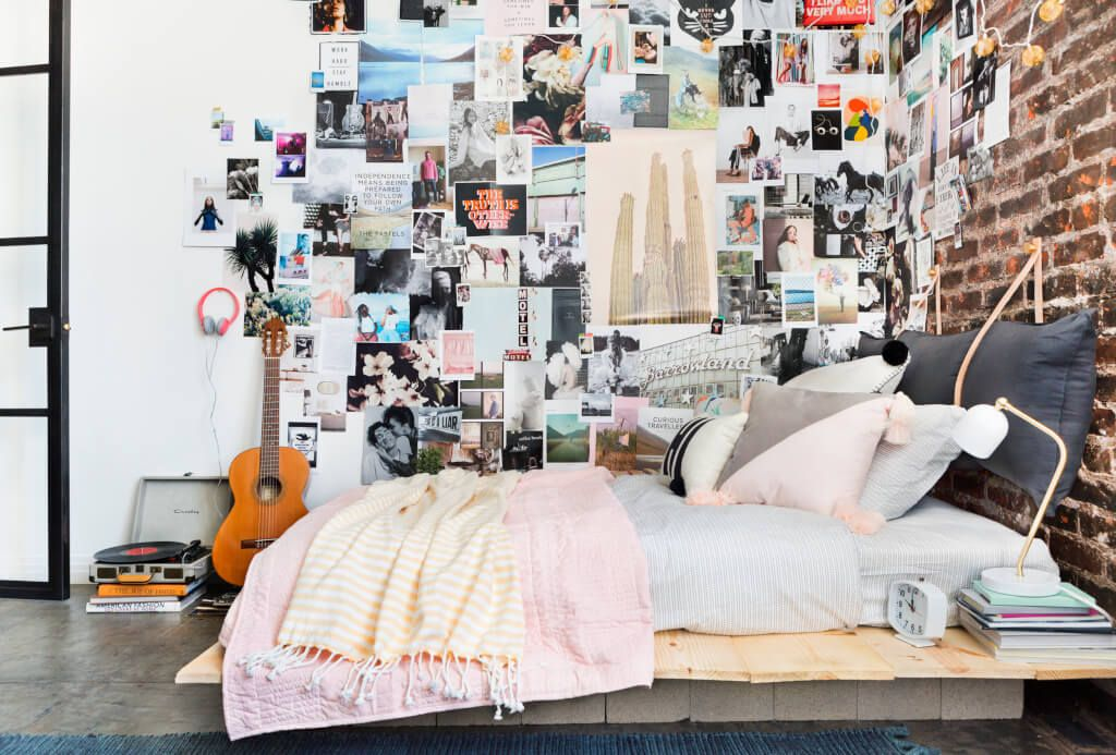 Dorm room inspiration wall