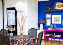 Eye-catching-blend-of-brilliant-blue-and-hot-pink-create-a-fabulous-corner-workstation-in-he-dining-room-62534-217x155