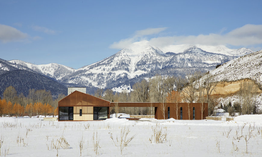 Awesome Dogtrot House in Jackson Blends Modern Rustic Design with Beautiful Views