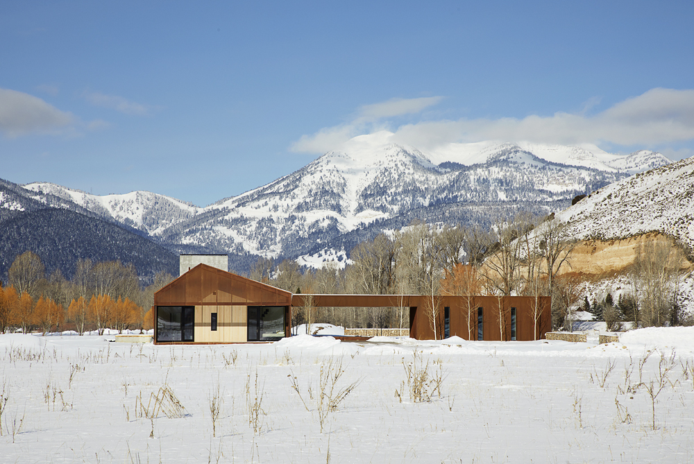 Fabulous Dogtrot House in Jackson with a view of ranchlands, foothills and Glory Peak