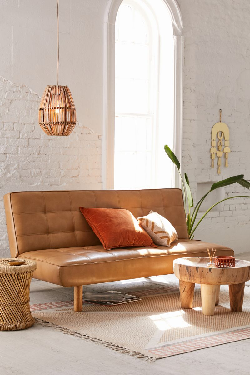 Faux leather sofa bed from Urban Outfitters