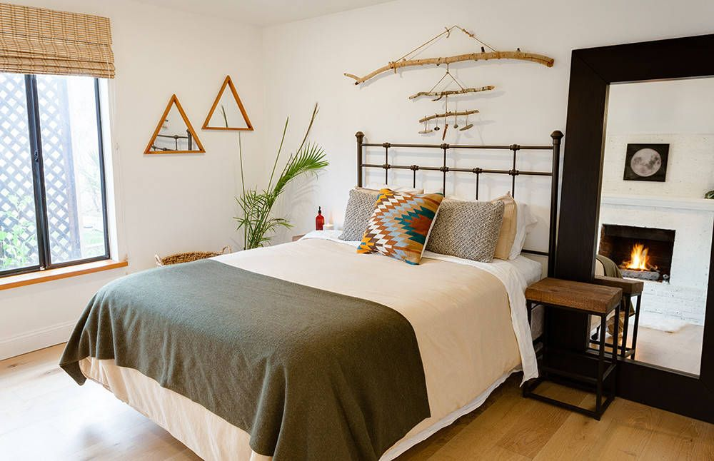 Find your own way to add a bit of bohemian charm to the bedroom