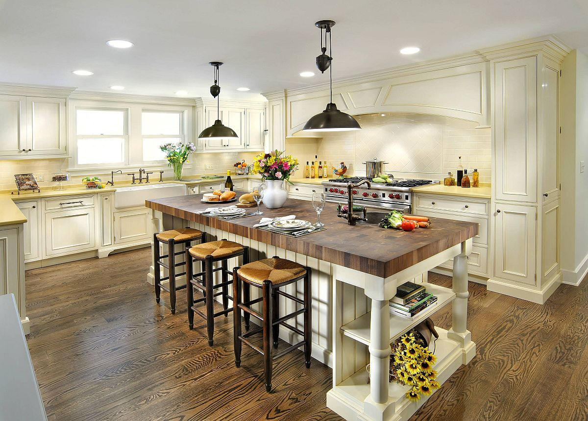 Finding the right butcher block countertop for your traditional kitchen island