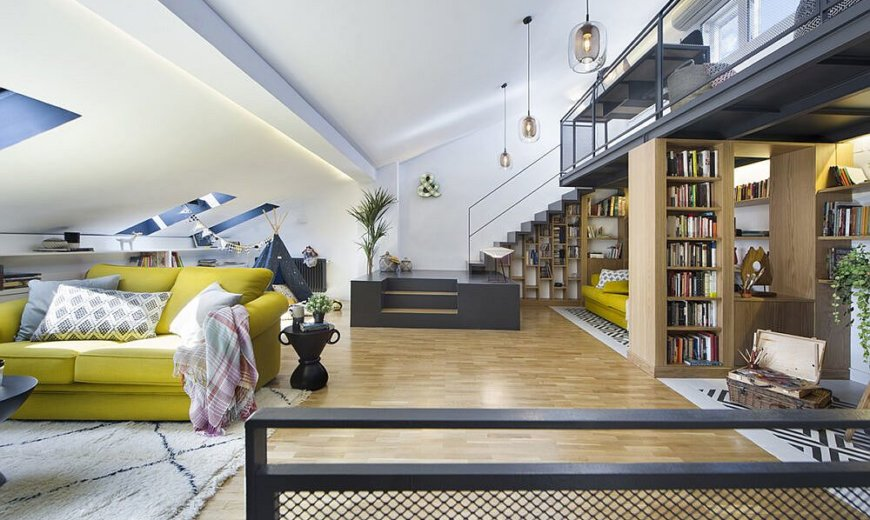Impressive Attic Makeover Reveals a Space-Conscious Family Hub in Madrid!