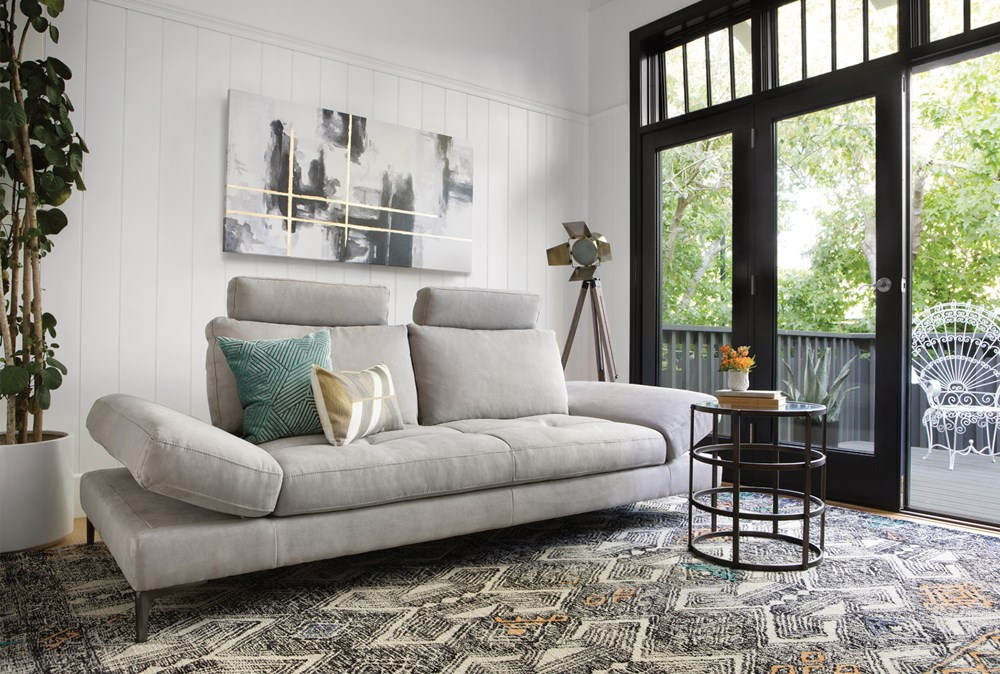 Grey daybed with back support