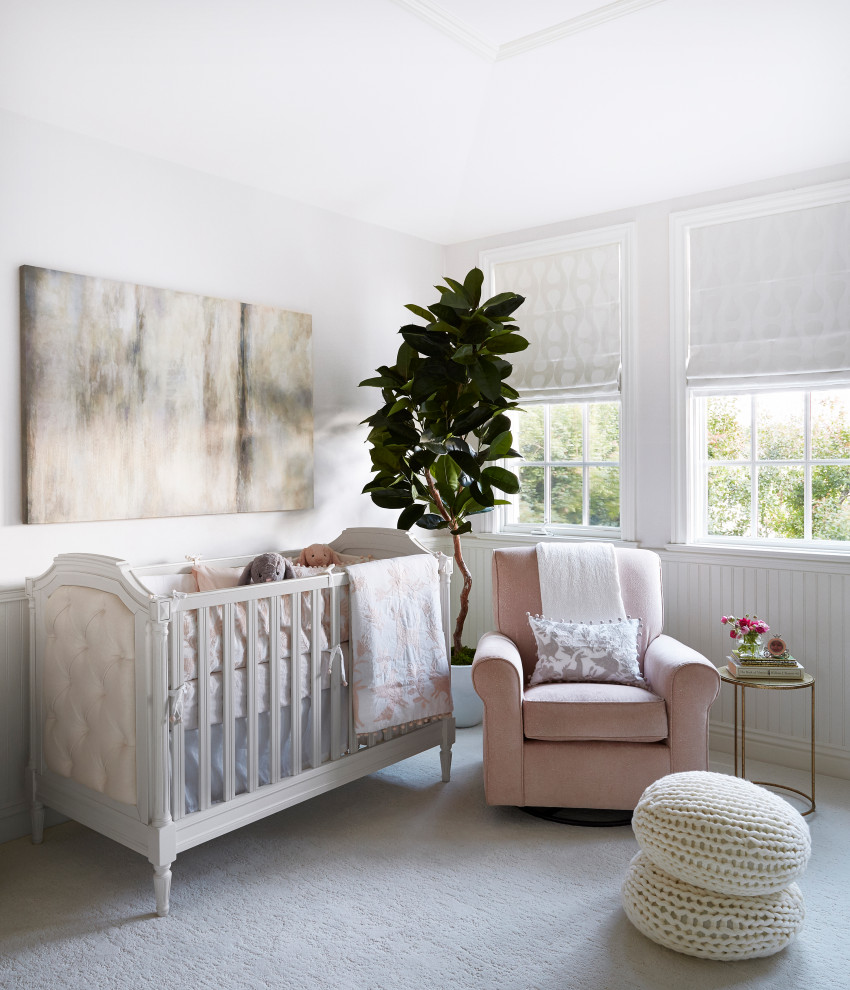 Indoor plants bring freshness to the nursery in white