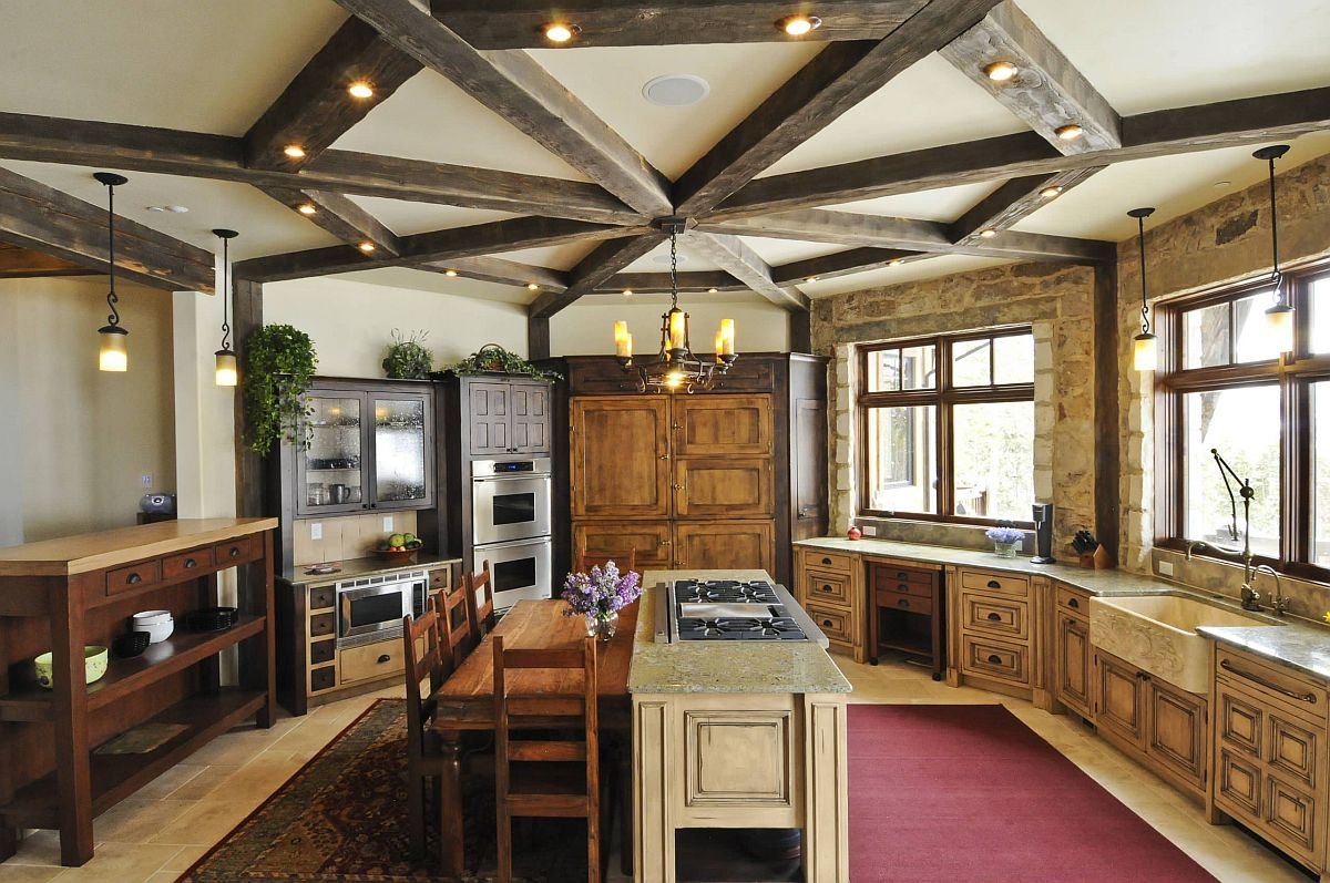 Innovative-way-of-using-wooden-beams-in-the-kitchen-along-with-lighting-24998