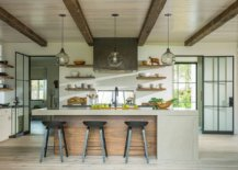 Kitchen-with-wooden-ceiling-and-ceiling-beams-feel-cozy-and-modern-46776-217x155