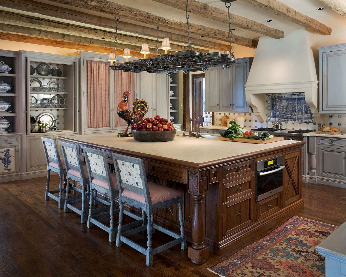 Mediterranean-style-kitchen-with-large-island-and-slim-wooden-ceiling-beams-51078