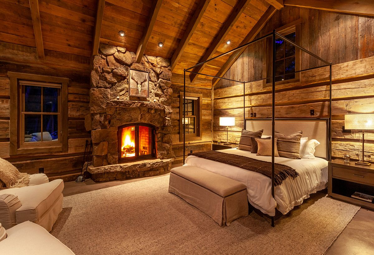Modern rustic bedrooms borrow from the aesthetics of the classic cabin