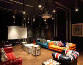 Eclectic Home Theaters Full of Colorful Bliss: Unleash Movie Magic!