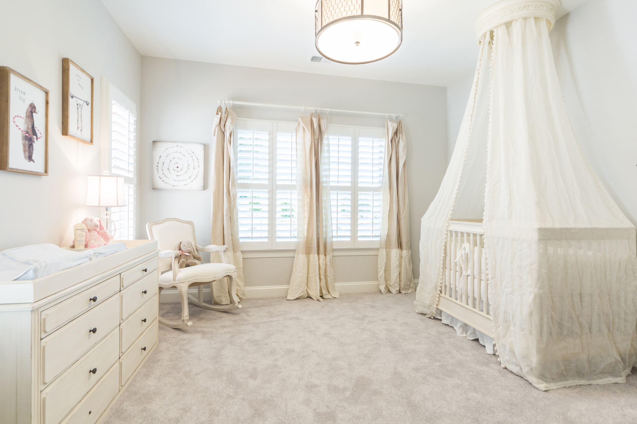 Sense of serenity in design is an idea you can embrace in the nursery as well