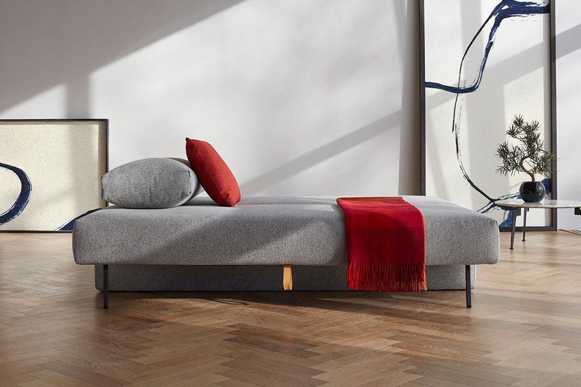 Sofa bed converted