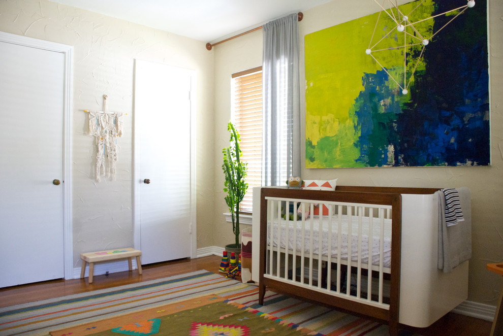 Use colors in the rug that accentuate the colors already used in the nursery