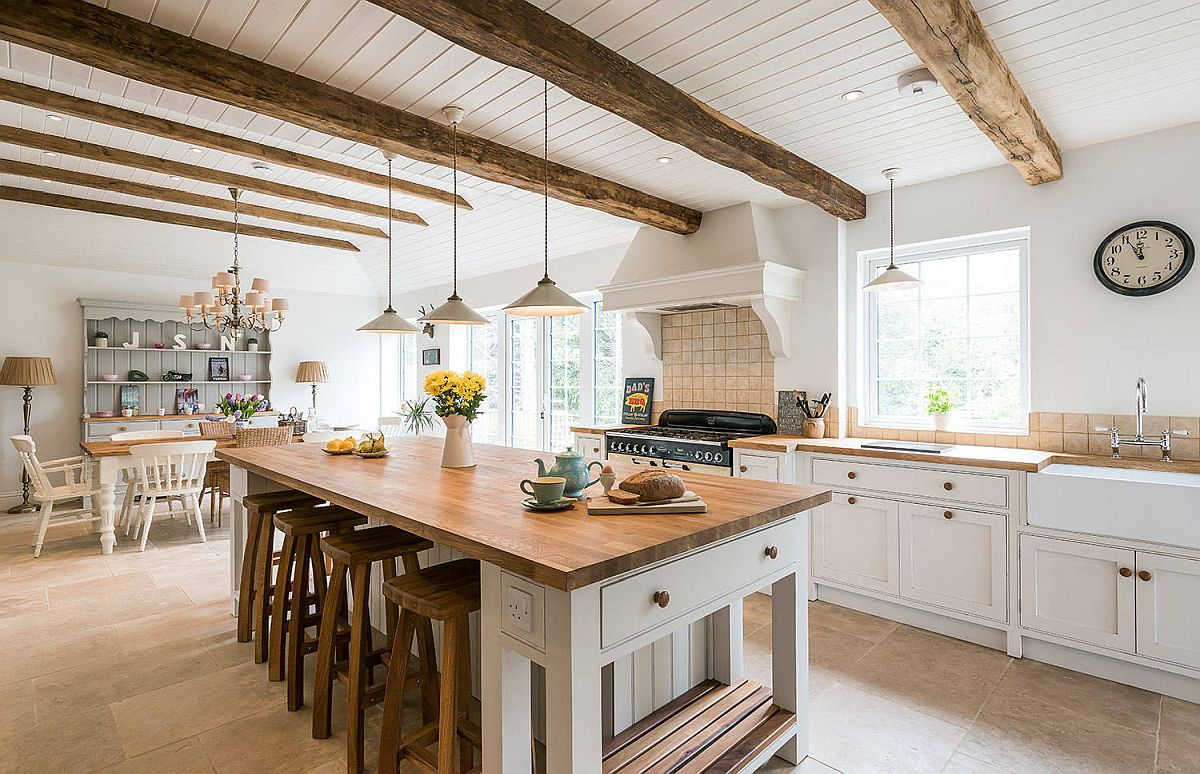 White-ceiling-of-the-kitchen-allows-the-beams-to-stand-out-more-visually-37712