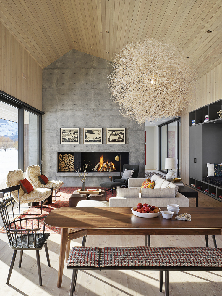 Wooden-ceiling-and-concrete-accent-plan-for-the-open-plan-living-area-of-the-gabled-house-in-Jackson-91521