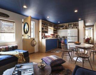 Custom Trailer Home with Californian Charm and Bespoke Space-Saving Furniture