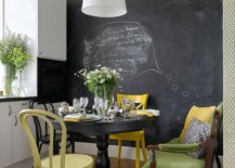 Black-chalkboard-wall-and-gorgeous-yellow-chair-for-the-small-eat-in-kitchen-92917-217x155