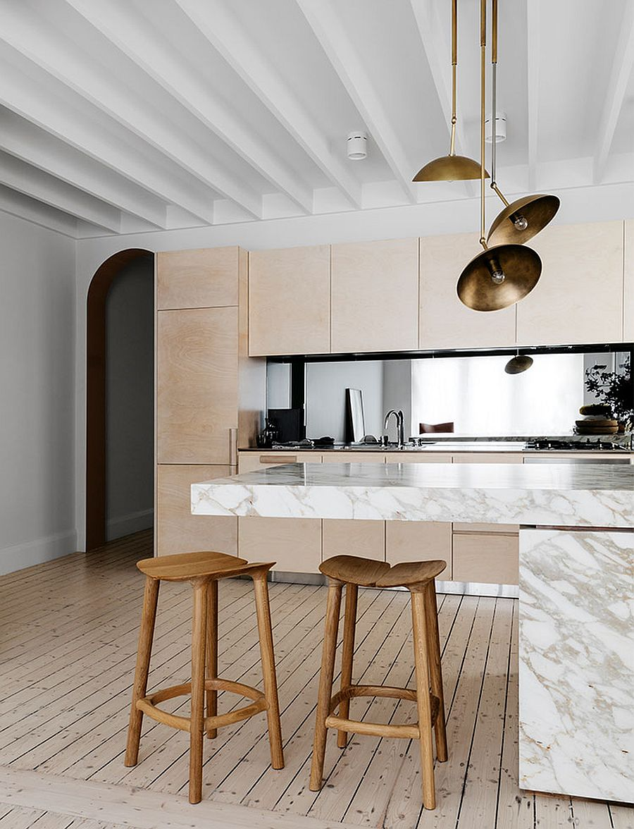 Calacatta-marble-counters-steal-the-spotlight-in-this-polished-kitchen-with-a-lovely-breakfast-bar-46611