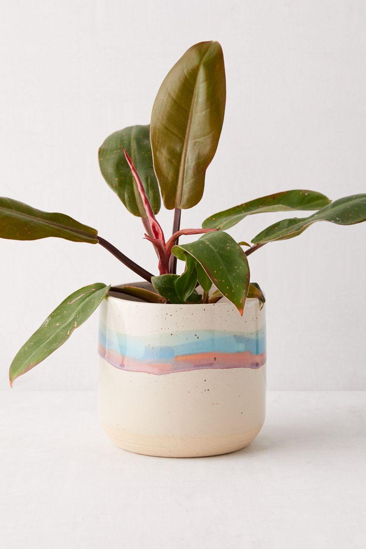 Ceramic striped planter
