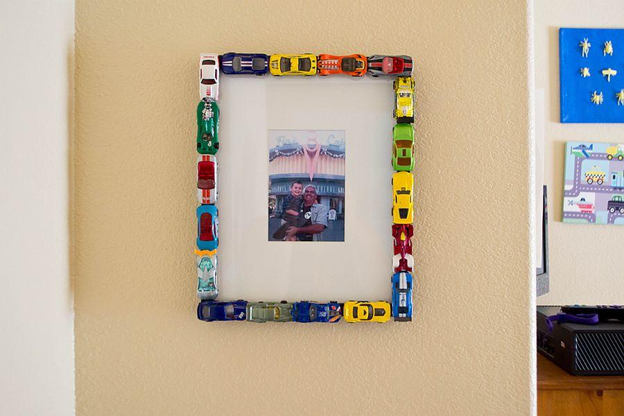 Colorful and fun DIY Matchbox Car Photo Frame
