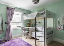 Contemporary-kids-bedroom-in-pastel-green-with-bunk-beds-and-workstation-underneath-99069-217x155