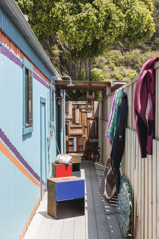Custom trailer home in Paradise Cove, Malibu with smart, budget design