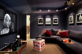 Stay Entertained: 20 Lovely Small Home Theaters and Media Rooms