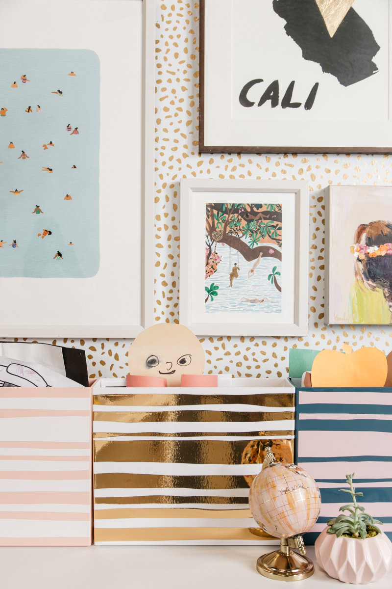 Decorating boxes with contact paper