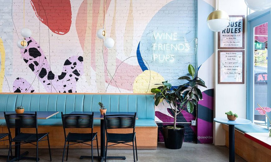 New York City's Colorful, Pet-friendly Café where Feels Fresh and Charming