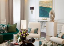 Different-shades-of-green-used-in-the-living-room-27572-217x155