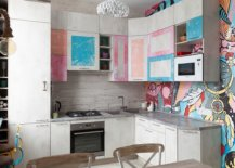 Eclectic-kitchen-of-small-Moscow-apartment-is-drenched-in-color-and-pattern-43899-217x155