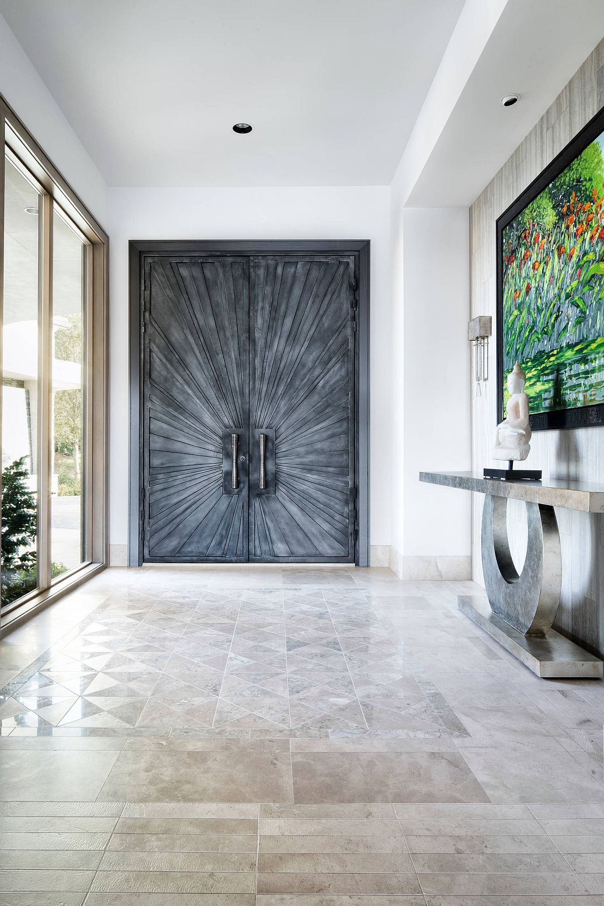 Even the modern minimal entry can feel opulent when done right