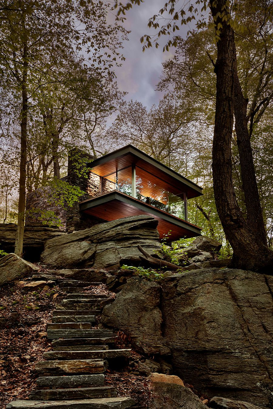 Fabulous and unique Writer's Studio designed by architect Eric J. Smith in Connecticut