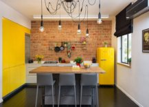Gorgeous-eclectic-kitchen-with-brick-accent-wall-and-lovely-pops-of-yellow-all-around-73176-217x155
