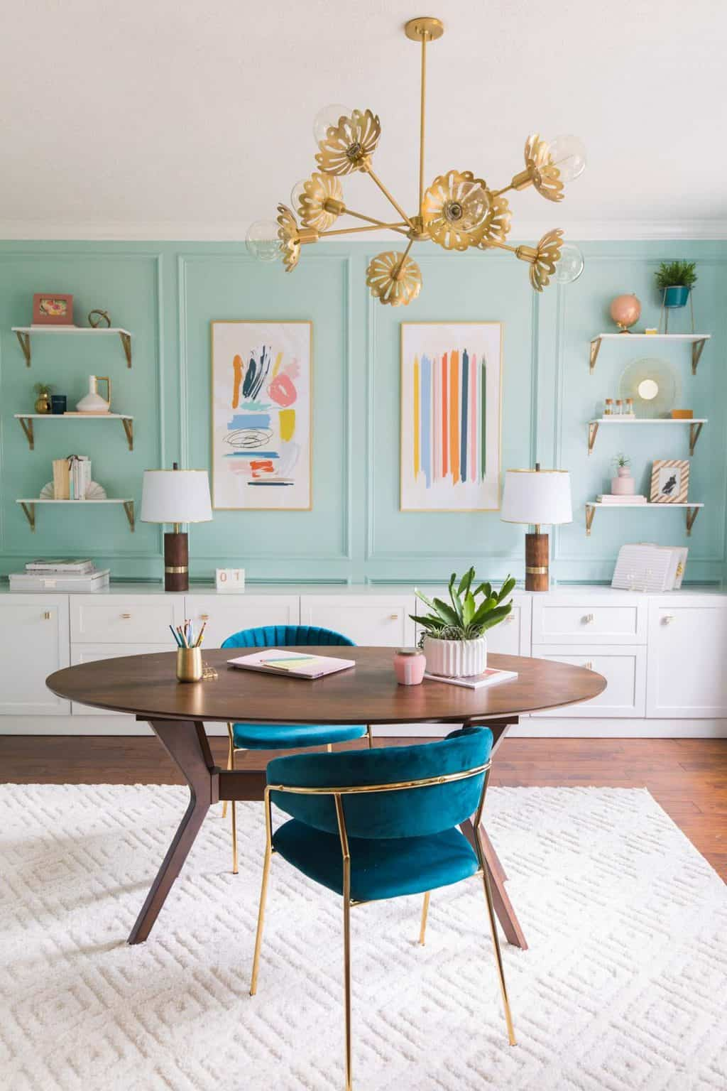 Home office makeover by Sugar & Cloth