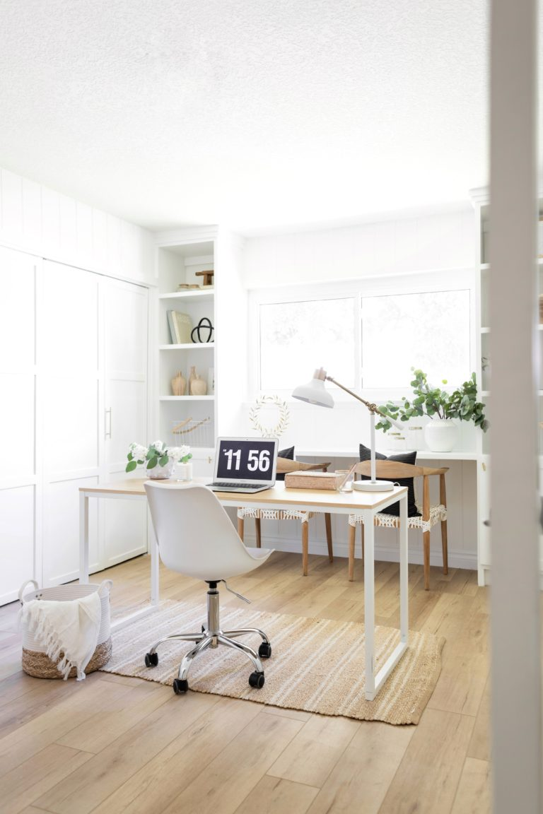 Home office reveal from Halfway Wholeistic