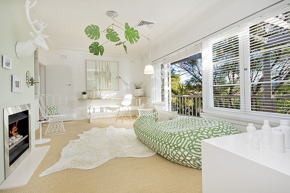 Pleasant Modern Family Home in Sydney is filled with White and Light!