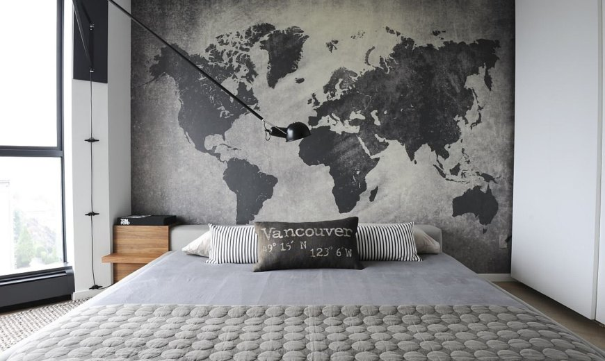 Map Your Bedroom: How to Decorate Adult Bedrooms with Maps!
