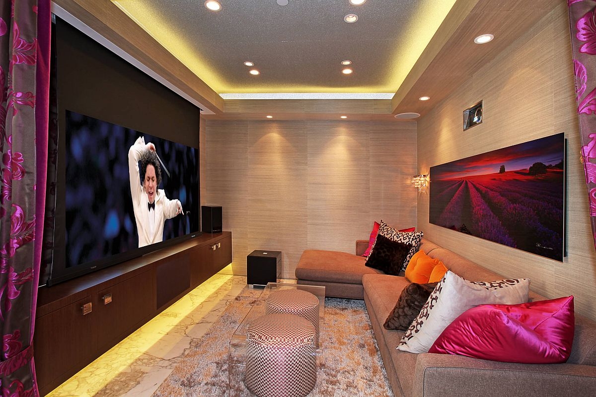 Modern technology allows you to create a smart home theater in the tiniest of rooms with ease